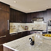Upscale Kitchen Interior Print by Andersen Ross
