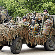 Vw Iltis Jeeps Used By Scout Or Recce Print by Luc De Jaeger