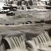 Waterfalls With Fresh Snow Thunder Bay Print by Susan Dykstra