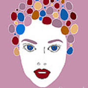 Woman In Fashion Print by Frank Tschakert
