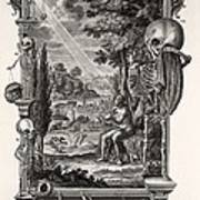 1731 Johann Scheuchzer Creation Of Man Print by Paul D Stewart