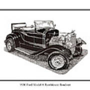 1930 Ford Model A Roadster Print by Jack Pumphrey