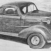 1937 Chevy Print by Kume Bryant