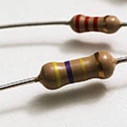 Carbon Film Resistors Print by Photo Researchers, Inc.