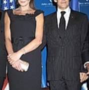 Carla Bruni Sarkozy, Nicolas Sarkozy Print by Everett