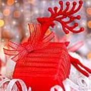 Christmas Gift Print by Anna Omelchenko