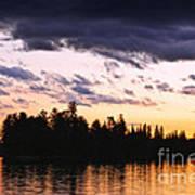 Dramatic Sunset At Lake Print by Elena Elisseeva