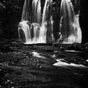 Ess-na-crub Waterfall On The Inver River In Glenariff Forest Park County Antrim Northern Ireland Uk Print by Joe Fox