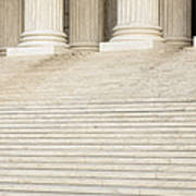 Front Steps And Columns Of The Supreme Court Print by Roberto Westbrook