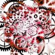 Gears Wheels Design  Print by Setsiri Silapasuwanchai