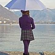 Girl With Umbrella Print by Joana Kruse