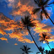 Maui Sunset Print by Kelly Wade