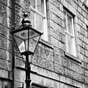 Old Sugg Gas Street Lights Converted To Run On Electric Lighting Aberdeen Scotland Uk Print by Joe Fox