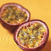 Passion Fruit Halves Print by Veronique Leplat