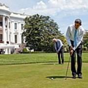President Barack Obama And Vice Print by Everett