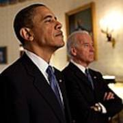 President Obama And Vp Biden Print by Everett