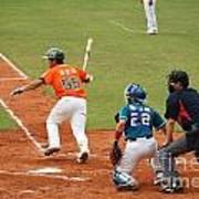 Professional Baseball Game In Taiwan Print by Yali Shi