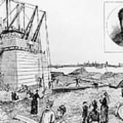 Statue Of Liberty, C1884 Print by Granger