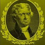 Thomas Jefferson In Yellow Print by Rob Hans
