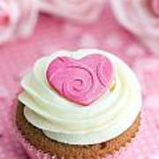 Valentine Cupcake Print by Ruth Black