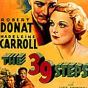 39 Steps, The, Robert Donat, Madeleine Print by Everett