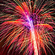 4th Of July - Independence Day Fireworks Print by Gordon Dean II