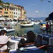 Portofino In The Italian Riviera In Liguria Italy Print by David Smith