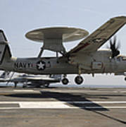 An E-2c Hawkeye Lands Aboard Print by Stocktrek Images