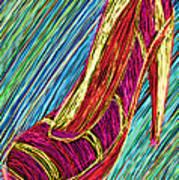 80's High Heels Print by Kenal Louis