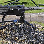 A .50 Caliber Browning Machine Gun Print by Andrew Chittock