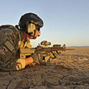 A Combat Rescue Officer Provides Print by Stocktrek Images
