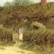 A Cottage At Freshwater Isle Of Wight Print by Helen Allingham