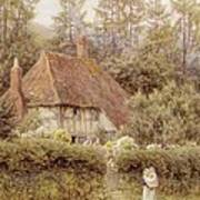 A Cottage Near Haslemere Print by Helen Allingham