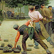 A Game Of Bourles In Flanders Print by Remy Cogghe