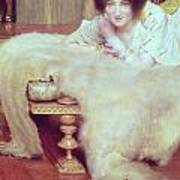 A Listener - The Bear Rug Print by Sir Lawrence Alma-Tadema