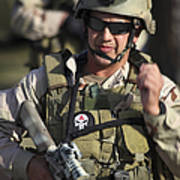 A Military Reserve Navy Seal Gives Print by Michael Wood