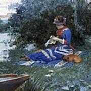 A Quiet Afternoon Print by William Henry Lippincott