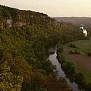 A View Of The Vezere River Valley Print by Kenneth Garrett