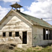 Abandoned Rural School House Print by Paul Edmondson