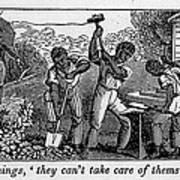 Abolitionist Cartoon Satirizing Slave Print by Everett