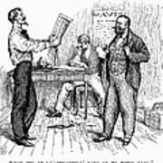 Abolitionist Newspaper Print by Granger