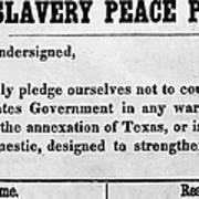 Abolitionist Peace Pledge Print by Granger