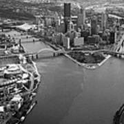 Above Pittsburgh  Print by Emmanuel Panagiotakis