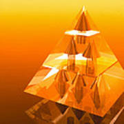 Abstract Computer Artwork Of A Pyramid Of Arrows Print by Laguna Design
