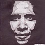 Abstract Obama Print by Angel Roque