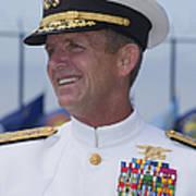 Admiral Eric T. Olson Speaks Print by Michael Wood
