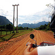 Adventure Motorbike Trip In Laos Print by Thepurpledoor