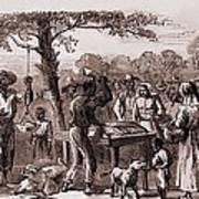 African American Freedmen Receiving Print by Everett