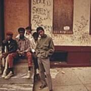 African American Teenage Street Gang Print by Everett