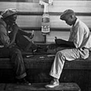 African American Young Men Play A Card Print by Everett